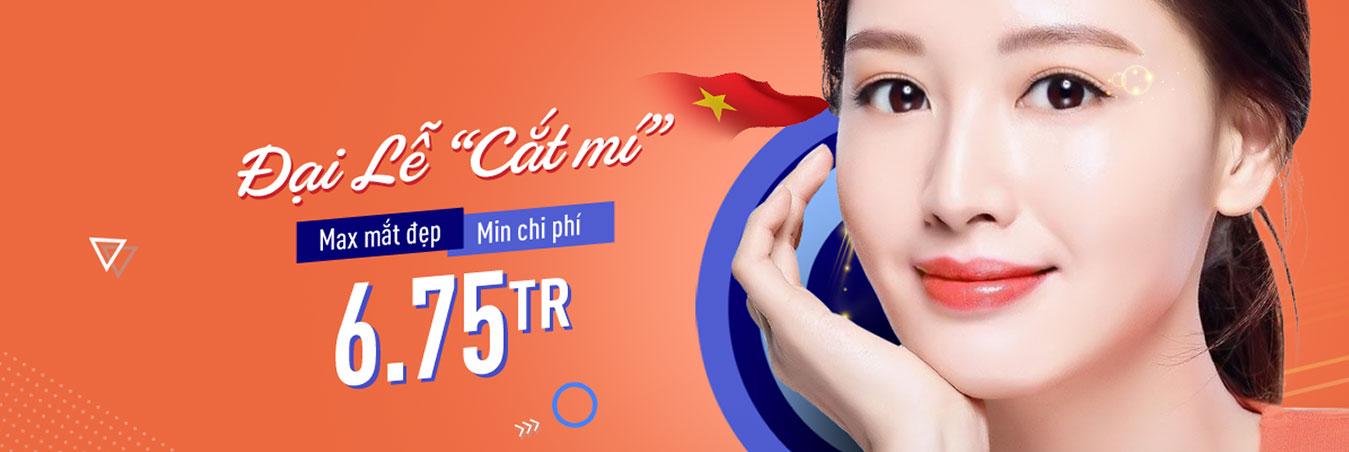 Khuyến mãi dịch vụ cắt mí mắt tại bacsicatmimat